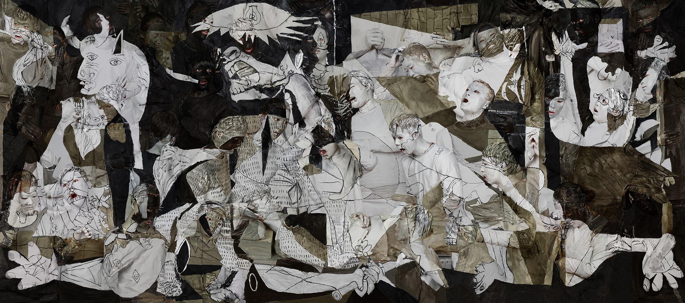 Liu Bolin, Guernica, 2016 (PRNewsFoto/Klein Sun Gallery)