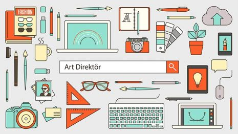 Graphic designer, illustrator and photographer banner with search bar and thin line tools and objects on a desktop; Shutterstock ID 316757600; UNIQUE KOD: -